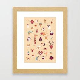 Minimal Animals Framed Art Print
