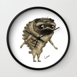 Linus, the Pug Wall Clock