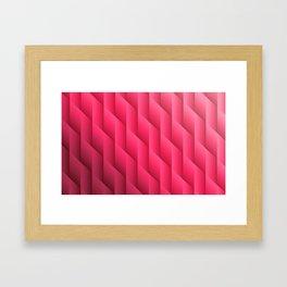 Gradient Pink Diamonds Geometric Shapes Framed Art Print