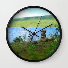 Inukshuk Summer Wall Clock