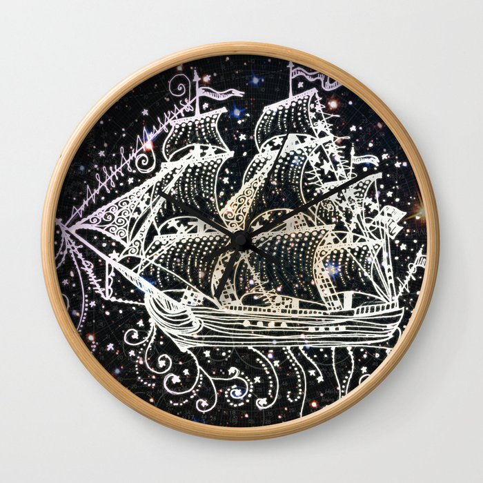 The Great Sky Ship II Wall Clock