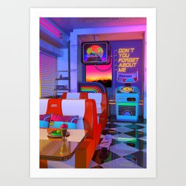 Retrowave Dine & Dream Art Print