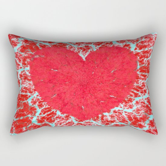 Frosty heart Rectangular Pillow