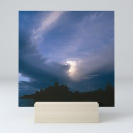 Ray of Hope in the Stormy Sky Mini Art Print