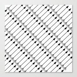 Tribal Art Arrows, Black and White Pattern Canvas Print