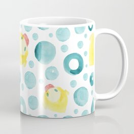 Watercolor hand drawn seamless pattern with a rubber duck Coffee Mug