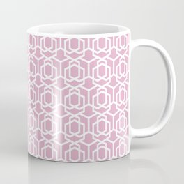Geometric Pattern 004 - pink & white Coffee Mug
