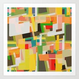 multicolored wild areas Art Print