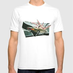 Muscle Magnet | Collage White MEDIUM Mens Fitted Tee