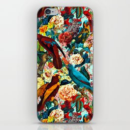 FLORAL AND BIRDS XV iPhone Skin