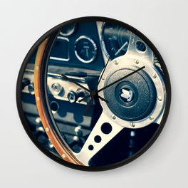 Old Triumph Wheel / Classic Cars Photography Wall Clock