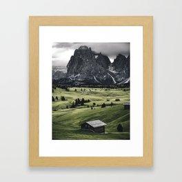 seiser alm landscape Framed Art Print