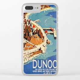 Vintage poster - Dunoon Clear iPhone Case