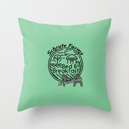 Schrute Farms bed and breakfast and self defense Throw Pillow
