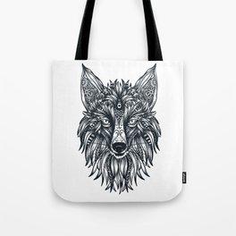 Fox Wolf Tribal Head Tote Bag