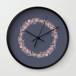 Dawn of Flowers, Rose. Wall Clock