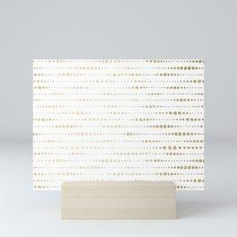 Modern Gold Polka Dot Stripes Mini Art Print