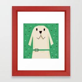 Dog_02_Clara Framed Art Print