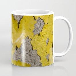 Yellow Peeling Paint on Concrete 3 Coffee Mug