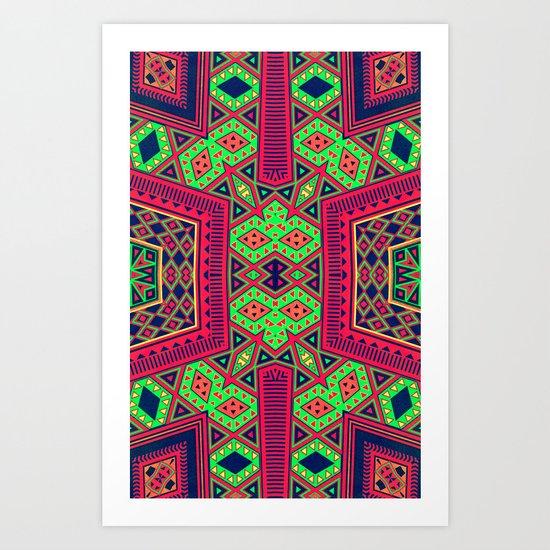 Eco Azteca Art Print
