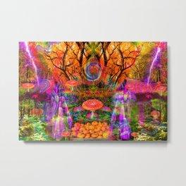 Hypnotic Autumn Magic Metal Print