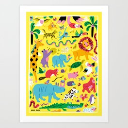 Animal Parade Art Print