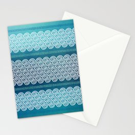 Abstract Ocean Waves Pattern Stationery Cards