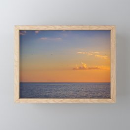Florida sunset Framed Mini Art Print