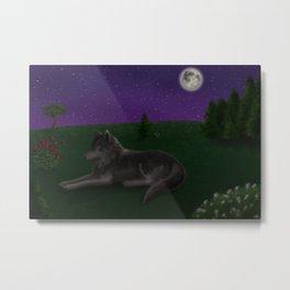 Delicate Wolf Metal Print