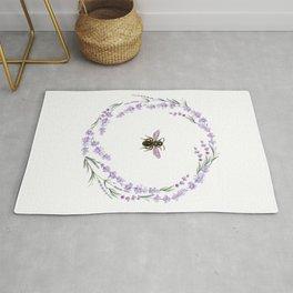 Lavender Bee Rug