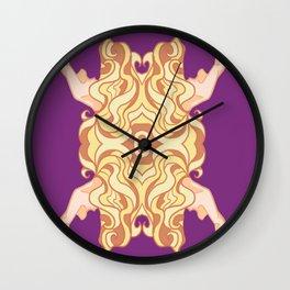 Art noveau girl Wall Clock