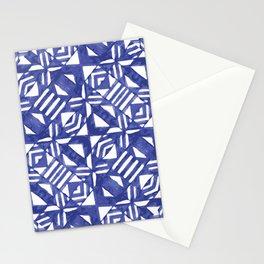 Linear Geometric Pattern Stationery Cards