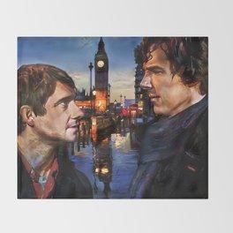 Sherlock and John in London Throw Blanket