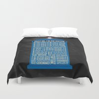 doctor Duvet Covers featuring Doctor Who  by Luke Eckstein