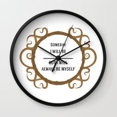 Thine Own Self Wall Clock