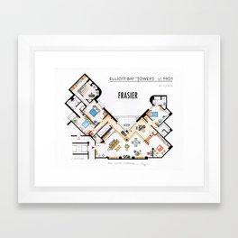 Frasier's Apartment Houseplan - V.2 Framed Art Print
