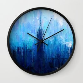 Empire State Building - New York City - Cityscape Wall Art, Poster, Impressionism Paintings, Prints Wall Clock