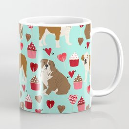 English Bulldog valentines day dog breeds gifts for dog lovers custom pet portraits Coffee Mug