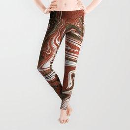 Copper marble Leggings