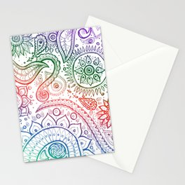 Paisley natural Stationery Cards