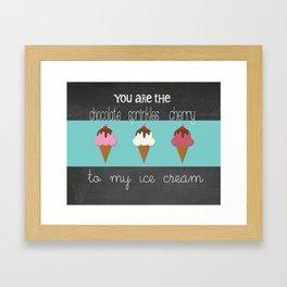 Sweet Cream Nothings Trio Framed Art Print