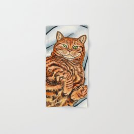 Ginger Cat Hand & Bath Towel