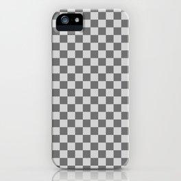 Light Gray and Dark Gray Checkerboard iPhone Case