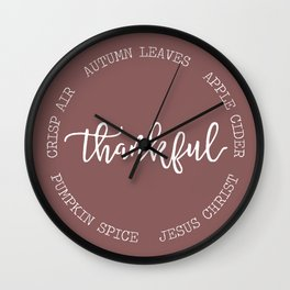 Thankful for Jesus and Autumn Wall Clock