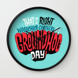 It's Groundhog Day! Wall Clock