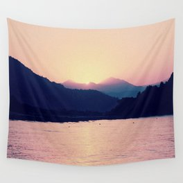 Romantic Pastel Pink Sunset #1 #art #society6 Wall Tapestry