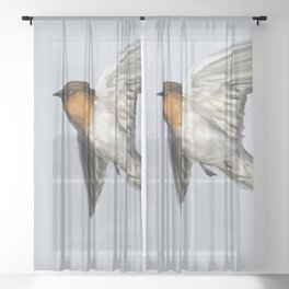Welcome Swallow Sheer Curtain