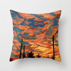 Street Meets Sky  Throw Pillow