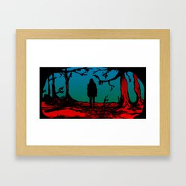 Black Riding Hood Framed Art Print