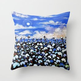 Delta Moonlight Throw Pillow
